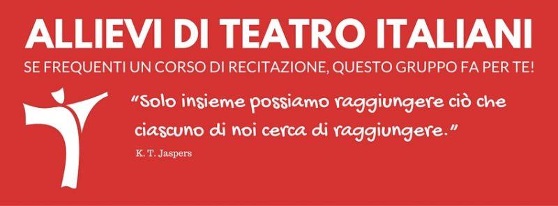 gruppo facebook allievi di teatro italiani