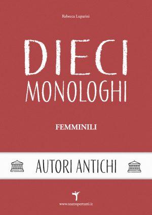 Dieci Monologhi Femminili Antichi - Copertina