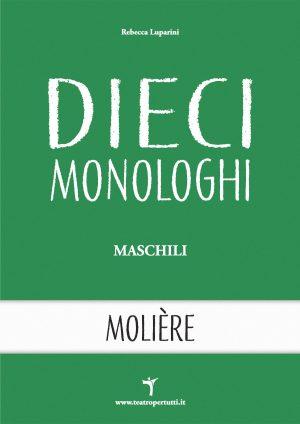 Dieci Monologhi Maschili Moliere - Copertina