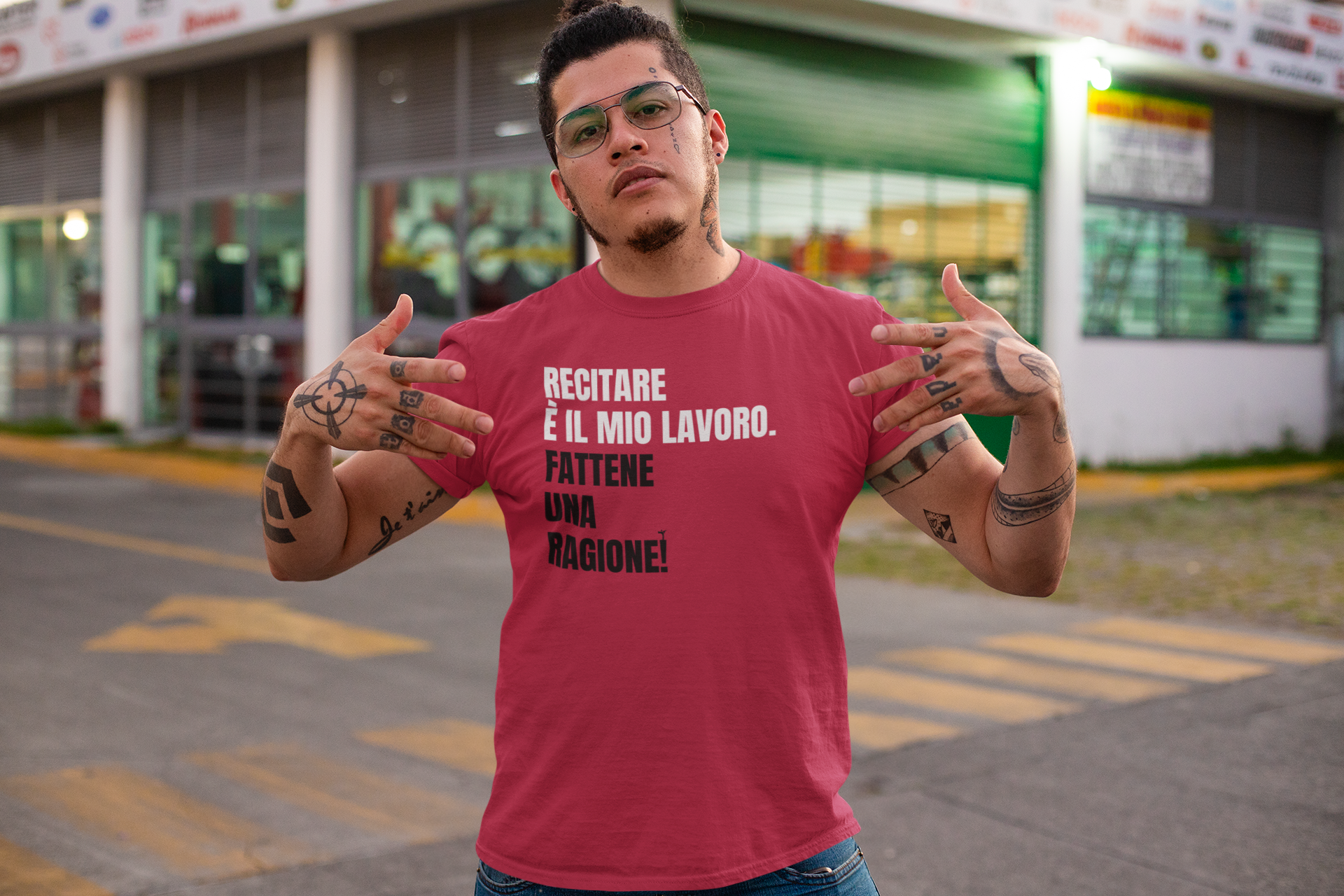 t-shirt-mockup-of-a-tattooed-man-showing-swag-on-the-street-32822